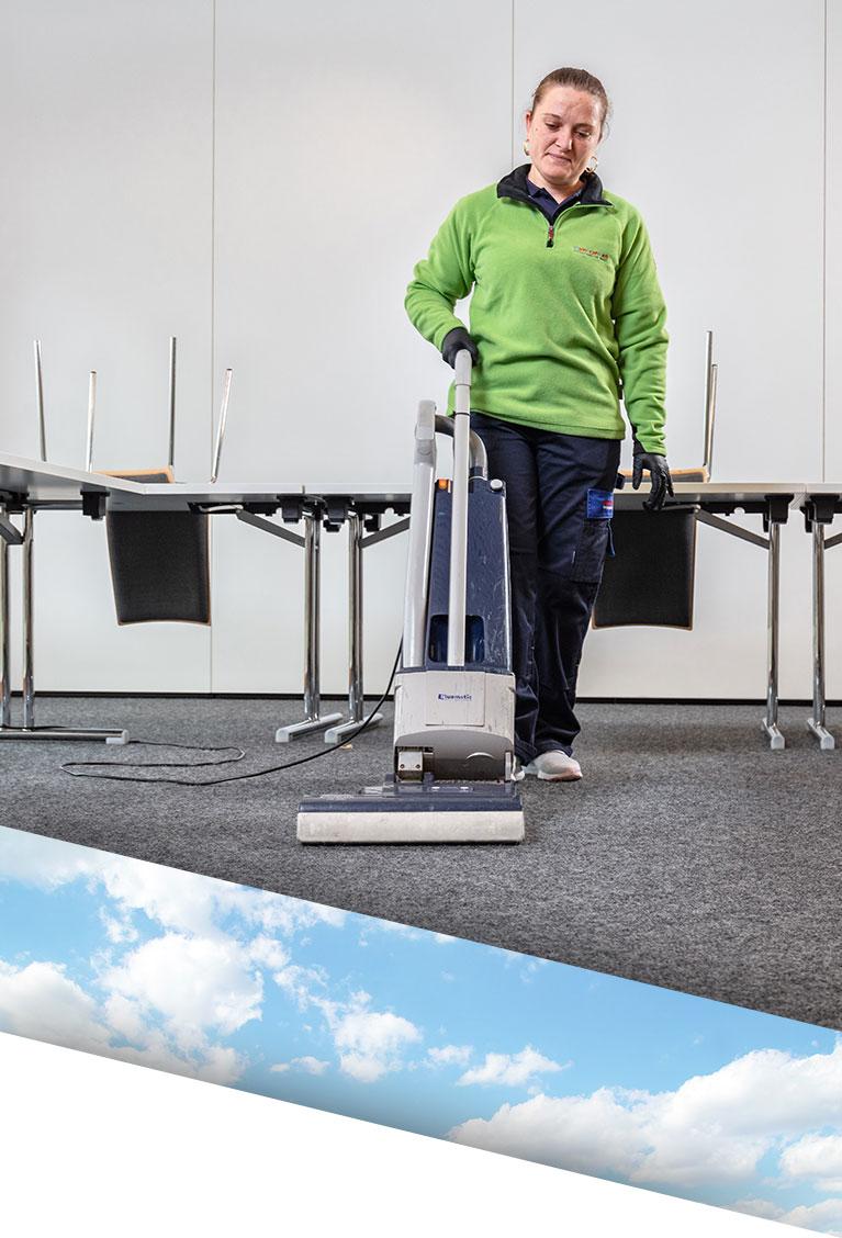 Individuelle Büroreinigung durch erfahrenes Reinigungspersonal