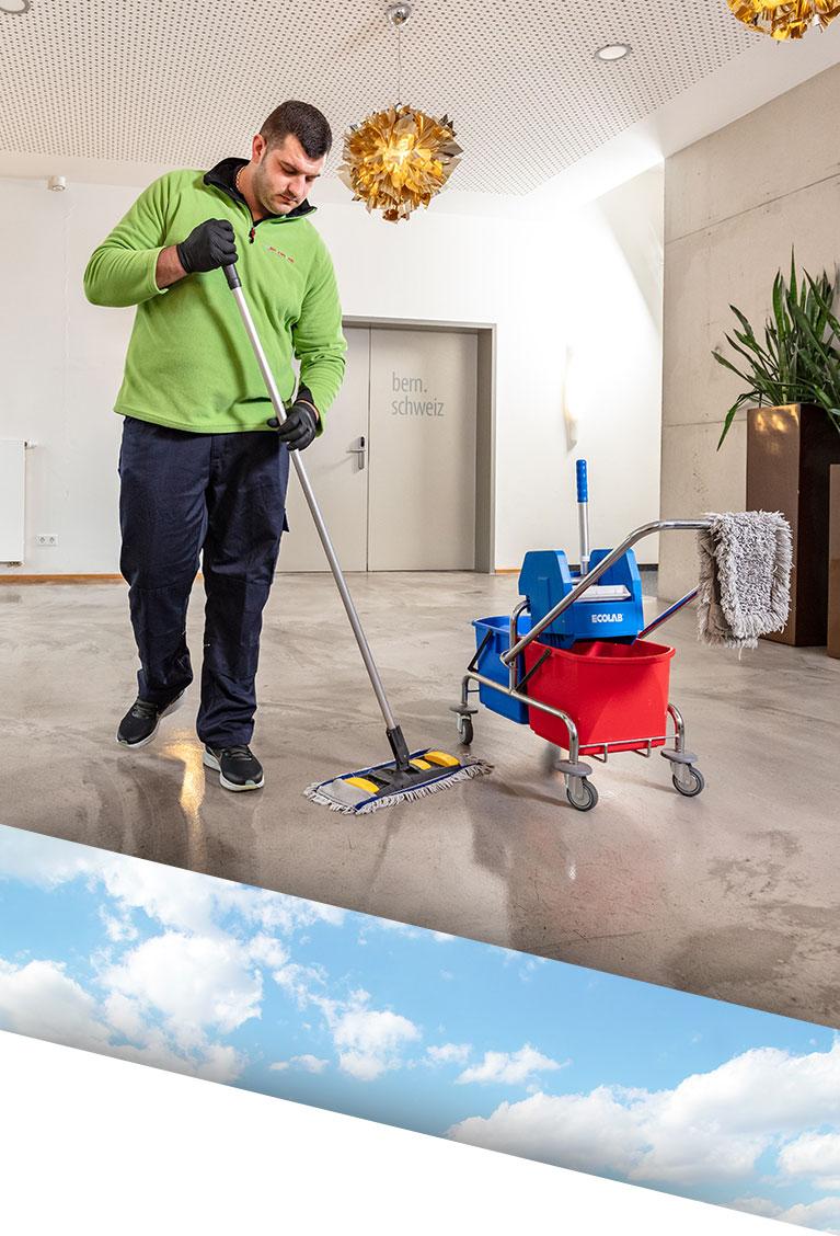Individuelle Unterhaltsreinigung durch Reinigungskraft