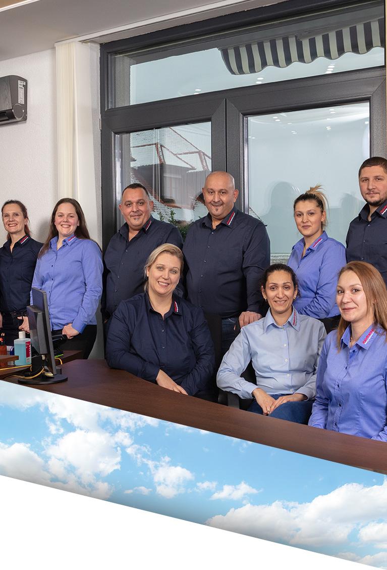 Mitarbeiter Team der Mainfranken Reinigungsdienst GmbH